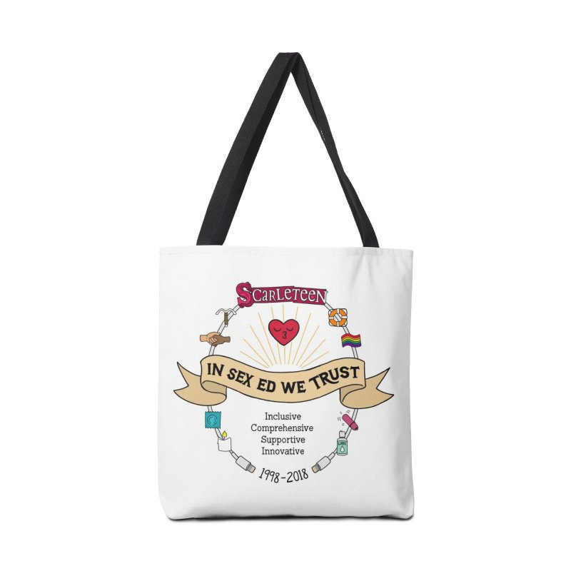 In Sex Ed We Trust Accessories Bag by Scarleteen's Threadless Shop
