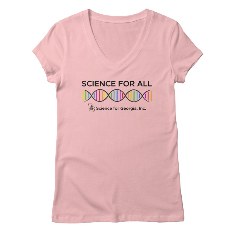 Science for All Women's Regular V-Neck by Science for Georgia's Shop