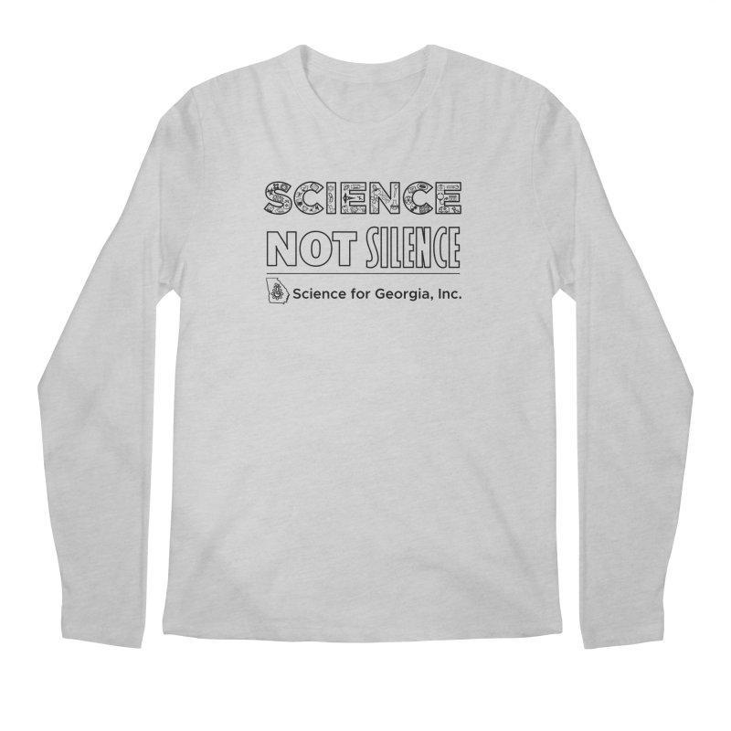Science Not Silence (black line) Men's Regular Longsleeve T-Shirt by Science for Georgia's Shop