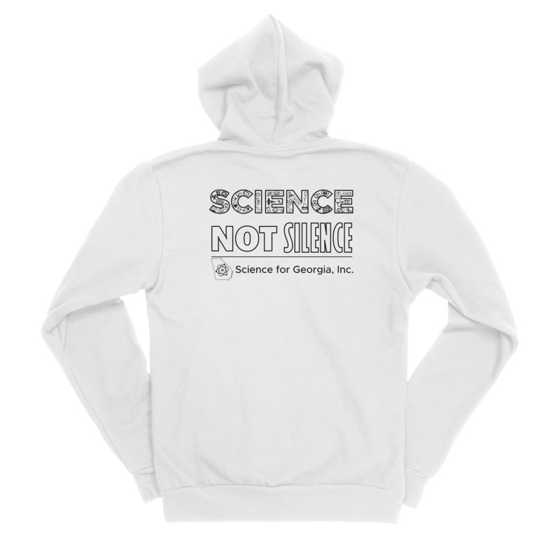 Science Not Silence (black line) Men's Sponge Fleece Zip-Up Hoody by Science for Georgia's Shop