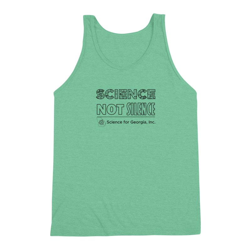 Science Not Silence (black line) Men's Triblend Tank by Science for Georgia's Shop