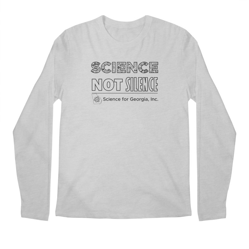 Science Not Silence (black line) Men's Regular Longsleeve T-Shirt by Science for Georgia's Shop