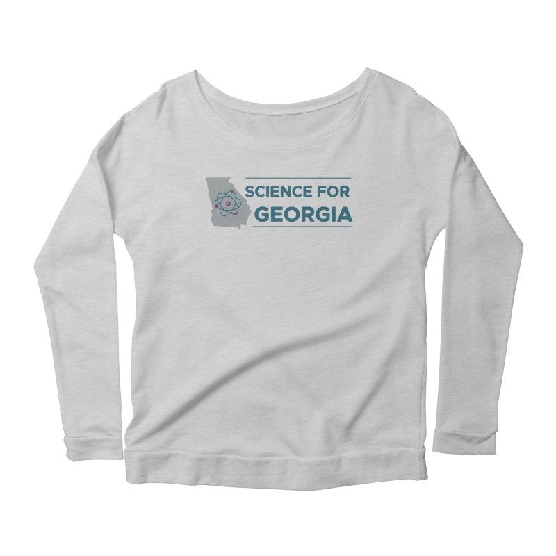 Science for Georgia Logo Shirt Women's Scoop Neck Longsleeve T-Shirt by Science for Georgia's Shop