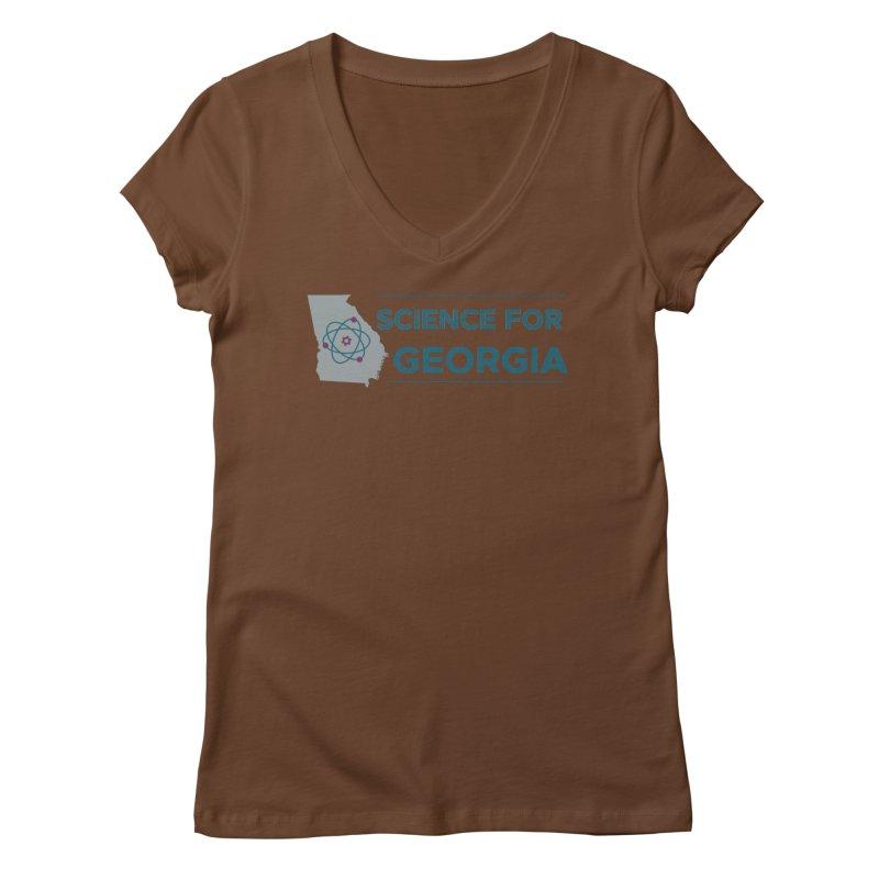 Science for Georgia Logo Shirt Women's Regular V-Neck by Science for Georgia's Shop