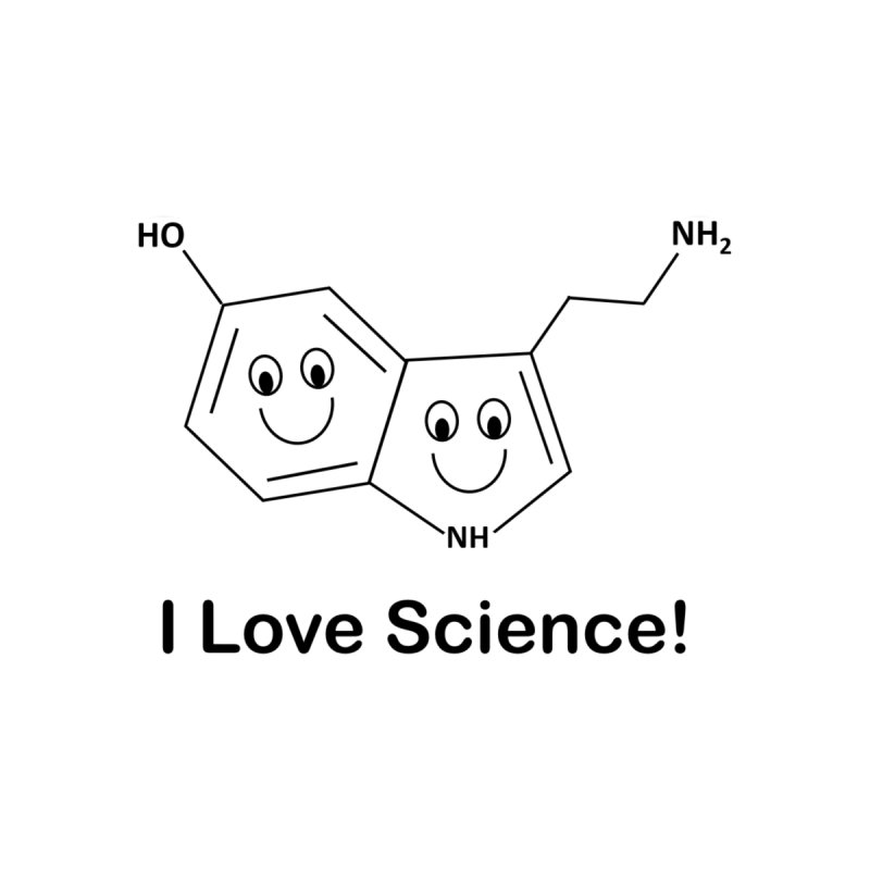 I love Science! (Serotonin) Men's T-Shirt by Science for Georgia's Shop