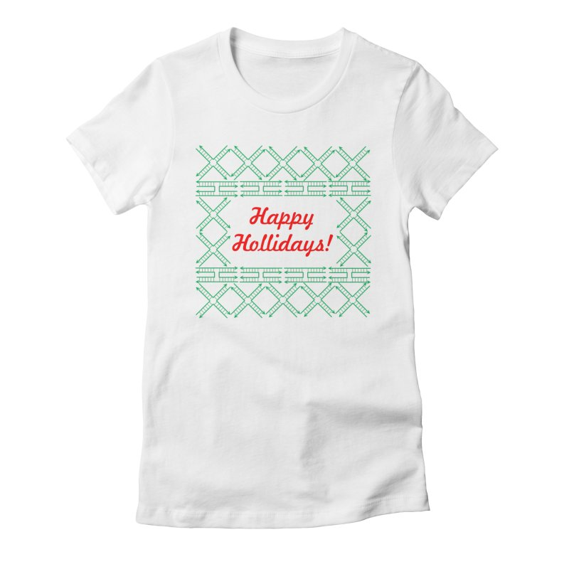 Happy Hollidays! (Limited Edition) Women's Fitted T-Shirt by Science for Georgia's Shop