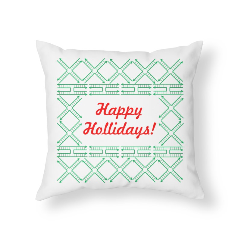 Happy Hollidays! (Limited Edition) Home Throw Pillow by Science for Georgia's Shop