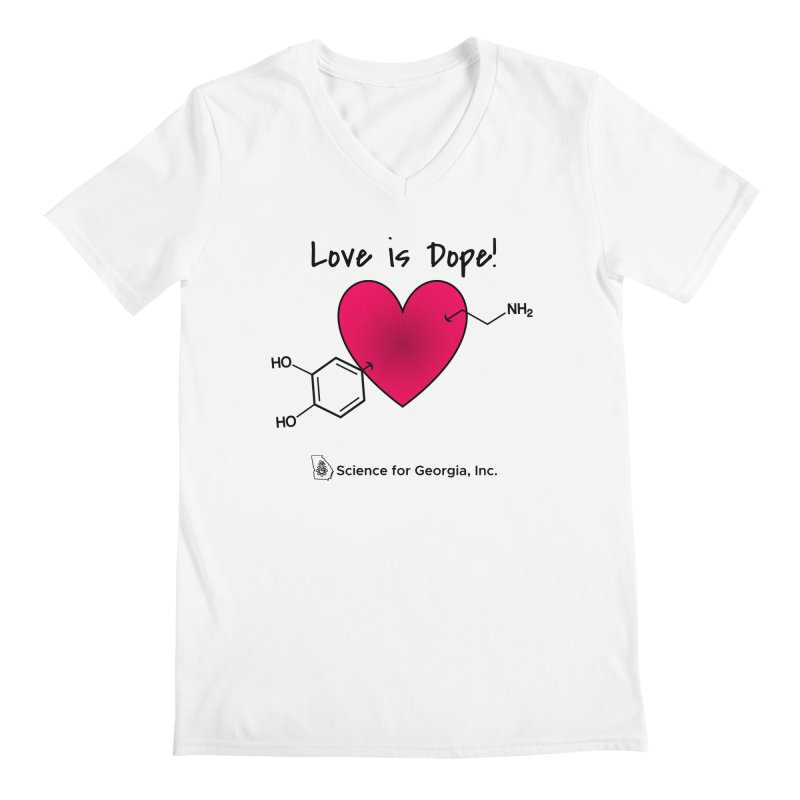 Love is Dope Men's Regular V-Neck by Science for Georgia's Shop