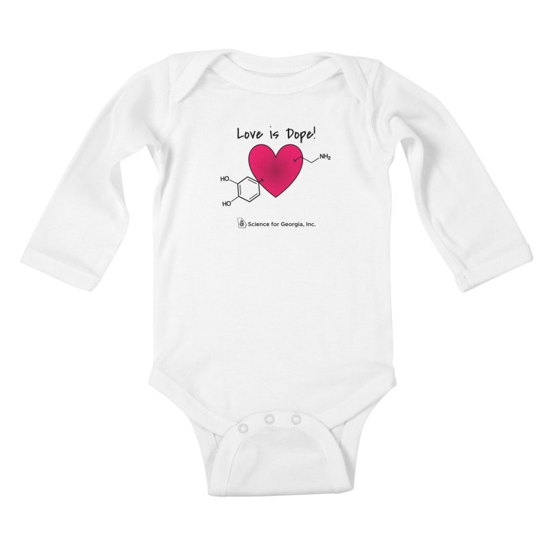Love is Dope Kids Baby Longsleeve Bodysuit by Science for Georgia's Shop
