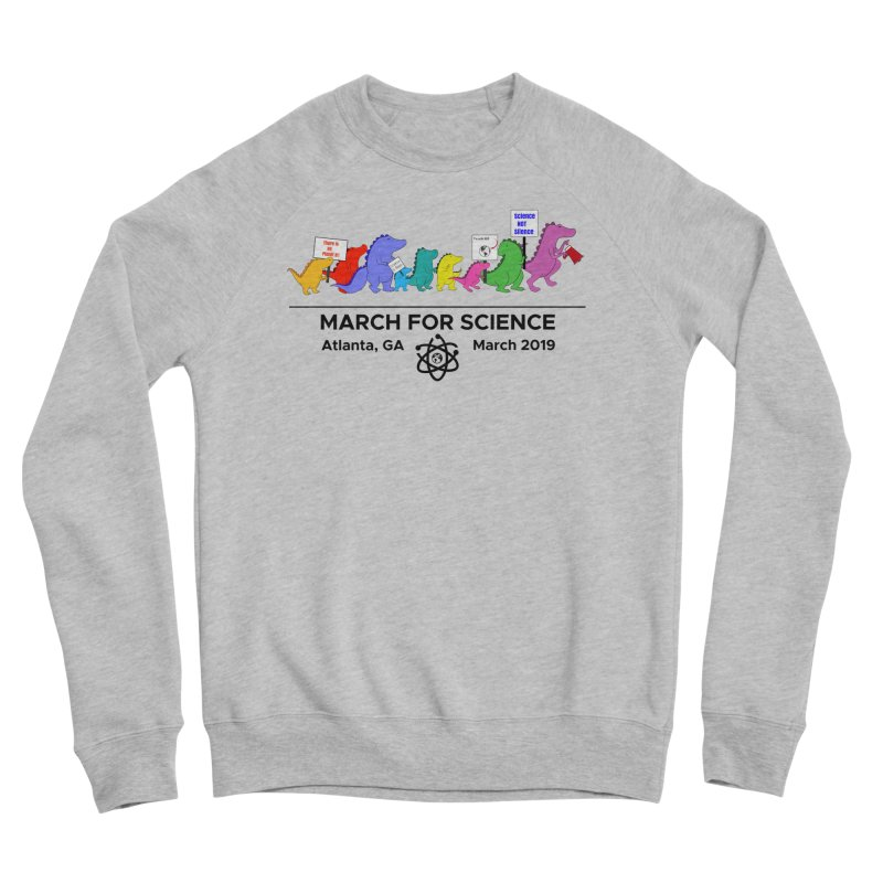 March of the Dinosaurs Men's Sponge Fleece Sweatshirt by Science for Georgia's Shop