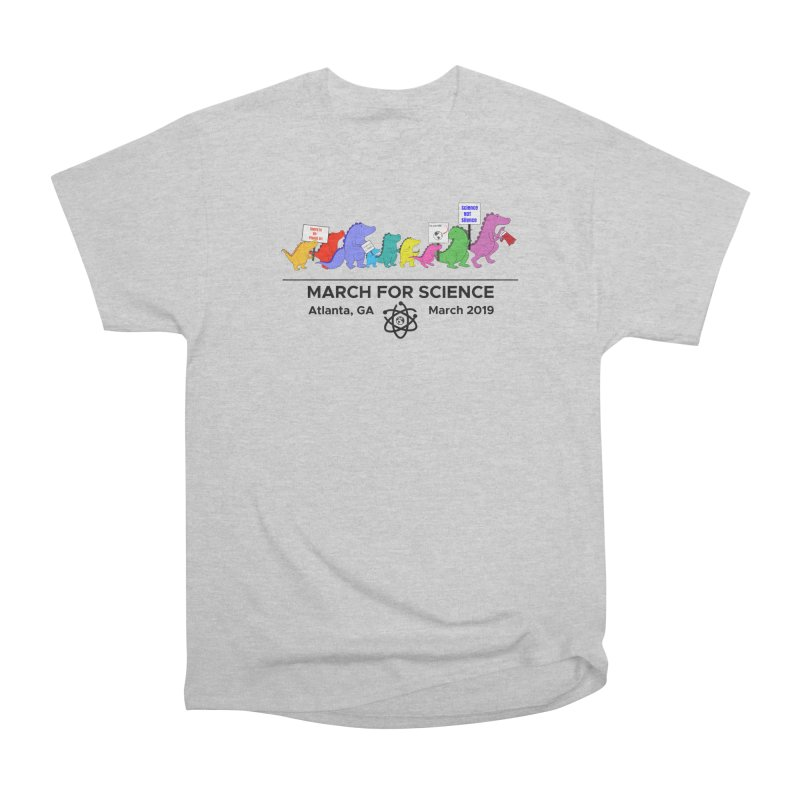 March of the Dinosaurs Men's Heavyweight T-Shirt by Science for Georgia's Shop