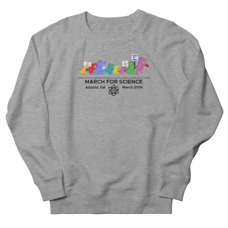 March of the Dinosaurs Women's French Terry Sweatshirt by Science for Georgia's Shop