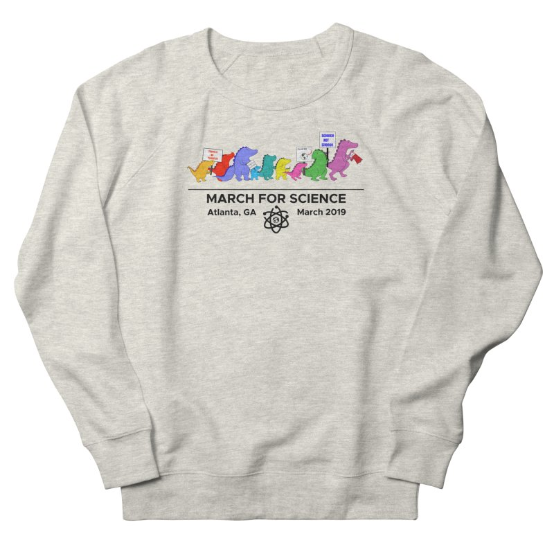 March of the Dinosaurs Men's French Terry Sweatshirt by Science for Georgia's Shop