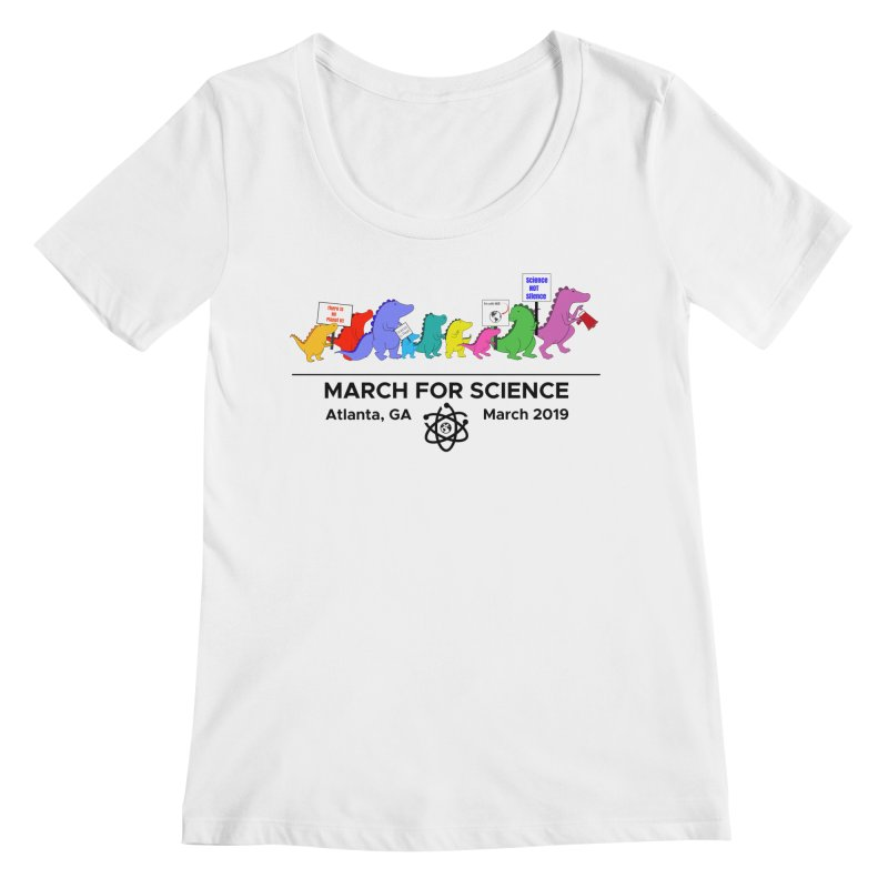 March of the Dinosaurs Women's Regular Scoop Neck by Science for Georgia's Shop
