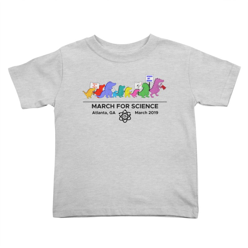 March of the Dinosaurs Kids Toddler T-Shirt by Science for Georgia's Shop