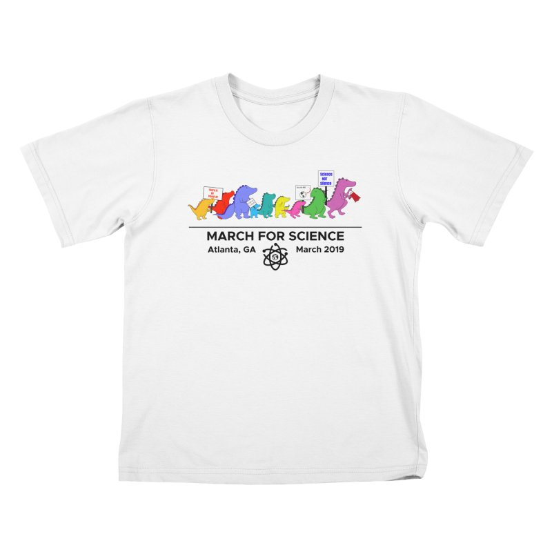 March of the Dinosaurs Kids T-Shirt by Science for Georgia's Shop