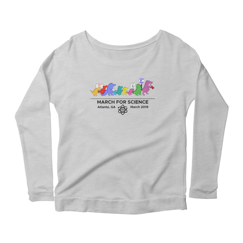 March of the Dinosaurs Women's Scoop Neck Longsleeve T-Shirt by Science for Georgia's Shop