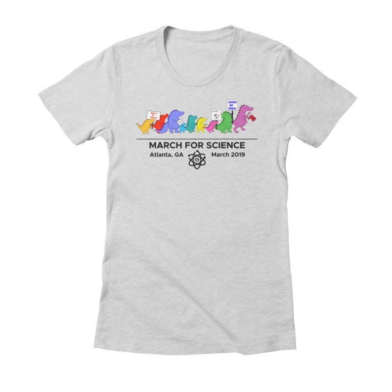 March of the Dinosaurs Women's Fitted T-Shirt by Science for Georgia's Shop