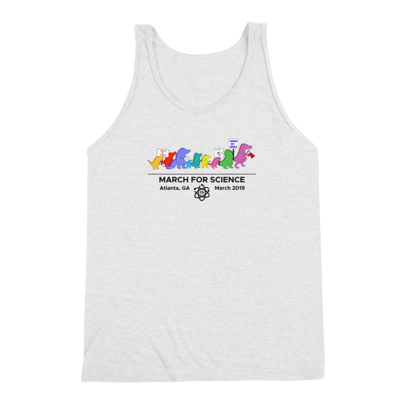 March of the Dinosaurs Men's Triblend Tank by Science for Georgia's Shop