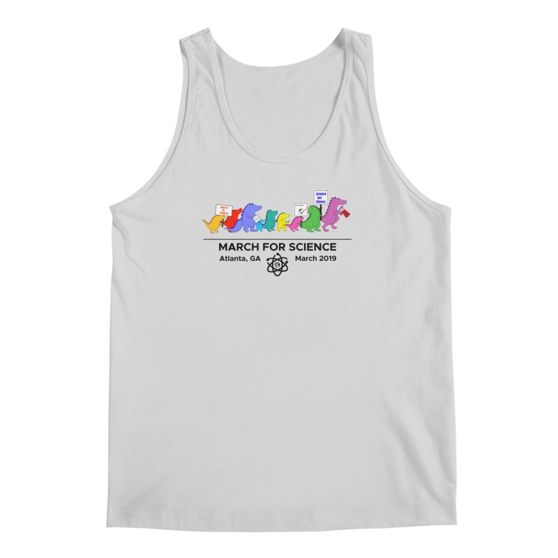 March of the Dinosaurs Men's Regular Tank by Science for Georgia's Shop