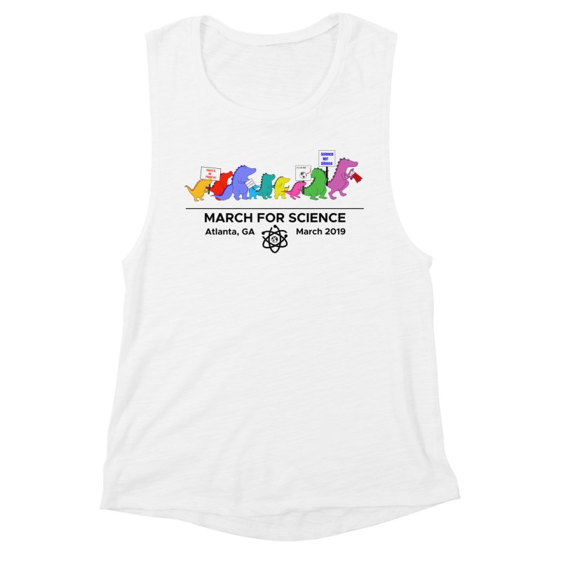 March of the Dinosaurs Women's Muscle Tank by Science for Georgia's Shop