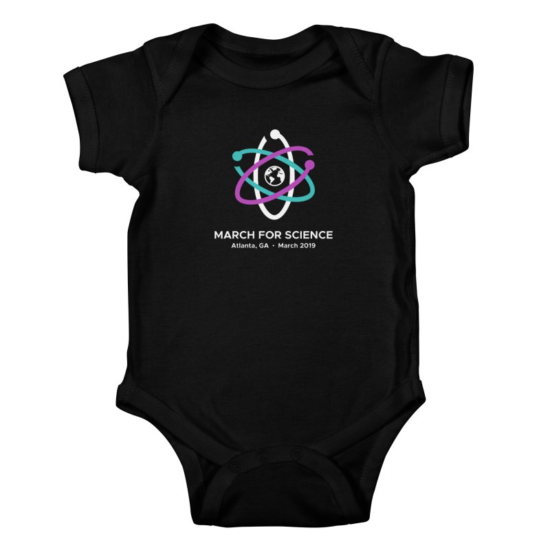 March for Science Atlanta Logo Shirt Kids Baby Bodysuit by Science for Georgia's Shop