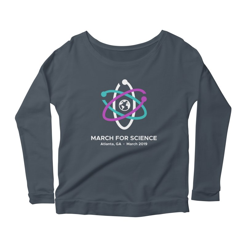 March for Science Atlanta Logo Shirt Women's Scoop Neck Longsleeve T-Shirt by Science for Georgia's Shop