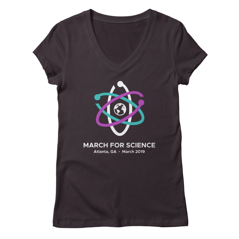 March for Science Atlanta Logo Shirt Women's Regular V-Neck by Science for Georgia's Shop