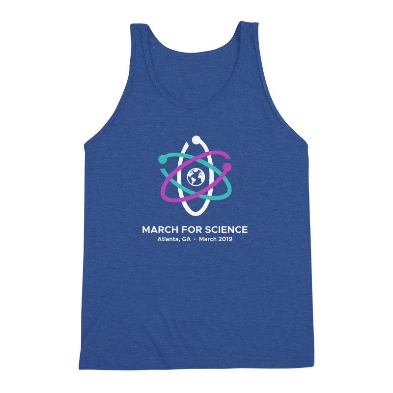 March for Science Atlanta Logo Shirt Men's Triblend Tank by Science for Georgia's Shop