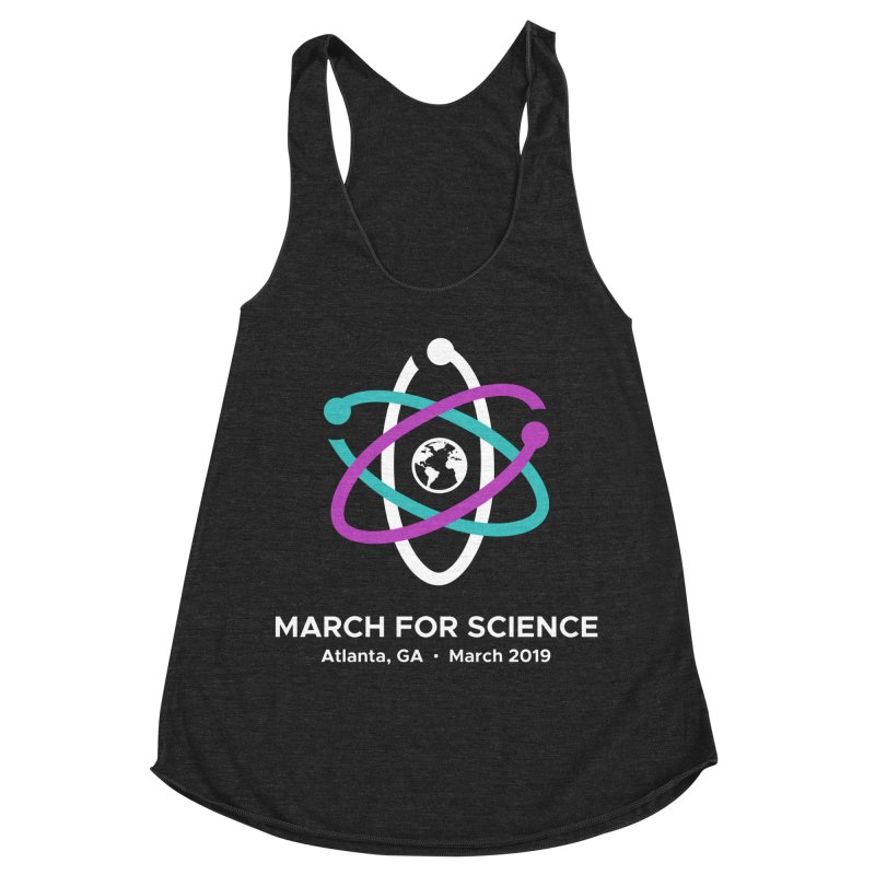 March for Science Atlanta Logo Shirt Women's Racerback Triblend Tank by Science for Georgia's Shop