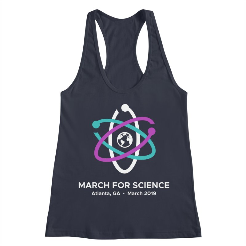 March for Science Atlanta Logo Shirt Women's Racerback Tank by Science for Georgia's Shop