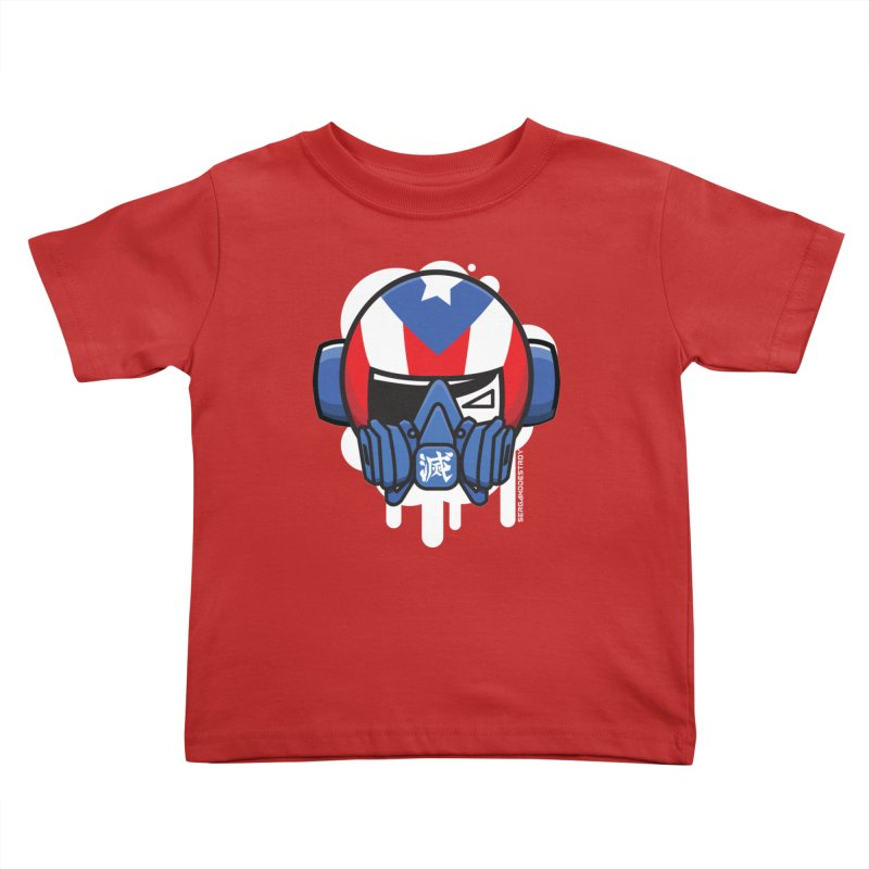 BORICUA STREET PIRATE Kids Toddler T-Shirt by SergAndDestroy's Artist Shop