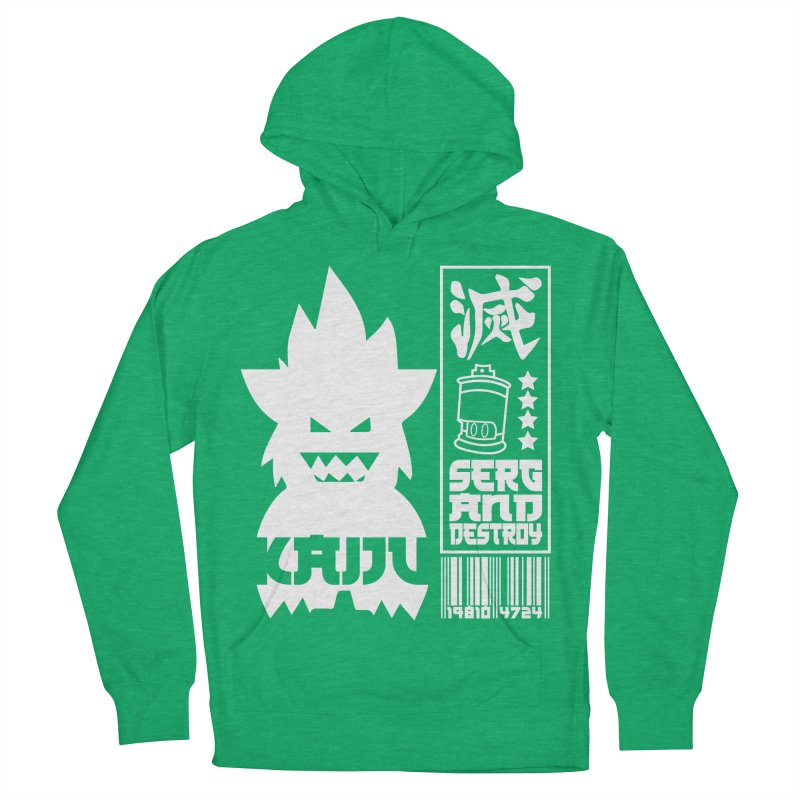 KAIJU CODED (white) Men's French Terry Pullover Hoody by SergAndDestroy's Artist Shop