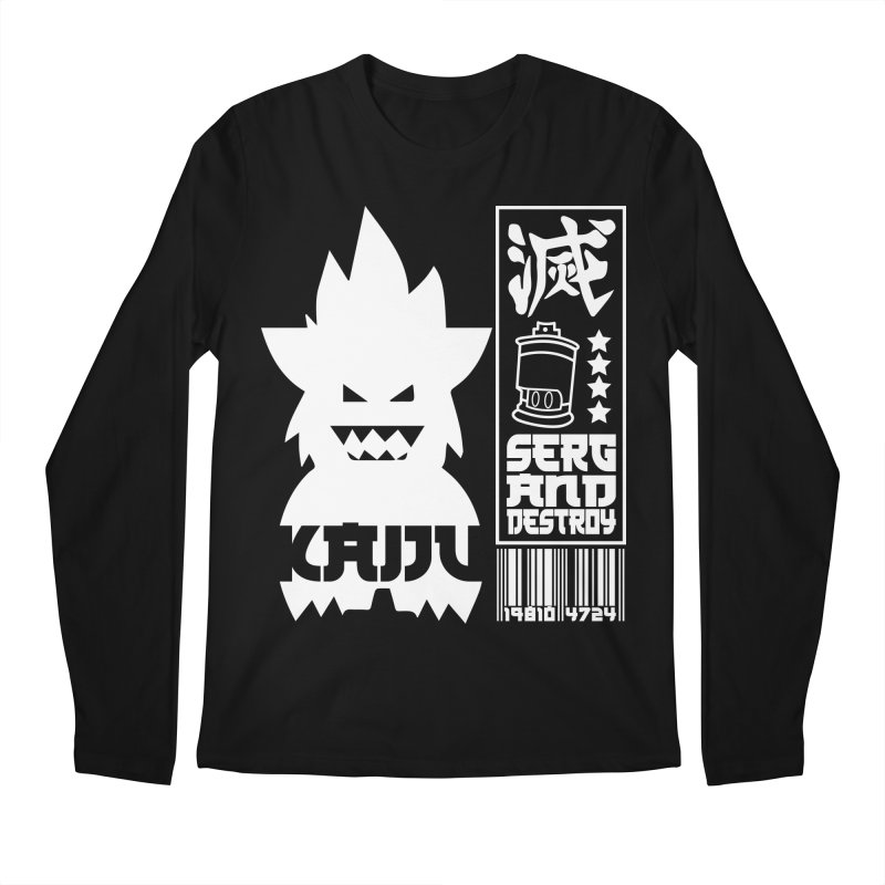 KAIJU CODED (white) Men's Regular Longsleeve T-Shirt by SergAndDestroy's Artist Shop
