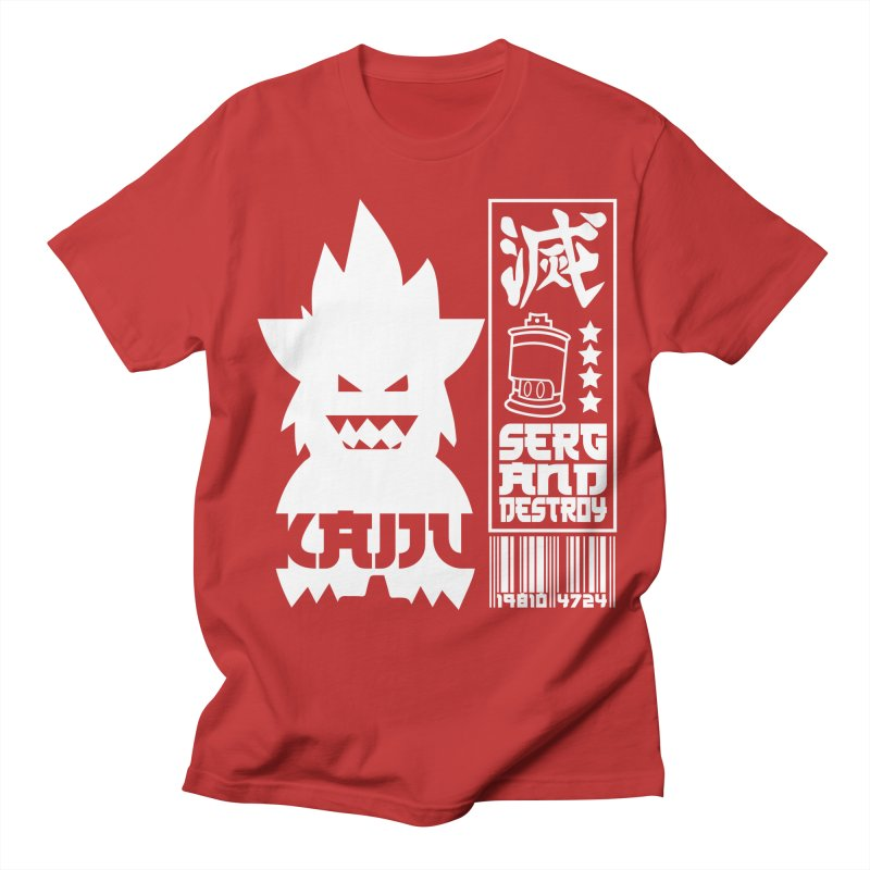 KAIJU CODED (white) Women's Regular Unisex T-Shirt by SergAndDestroy's Artist Shop