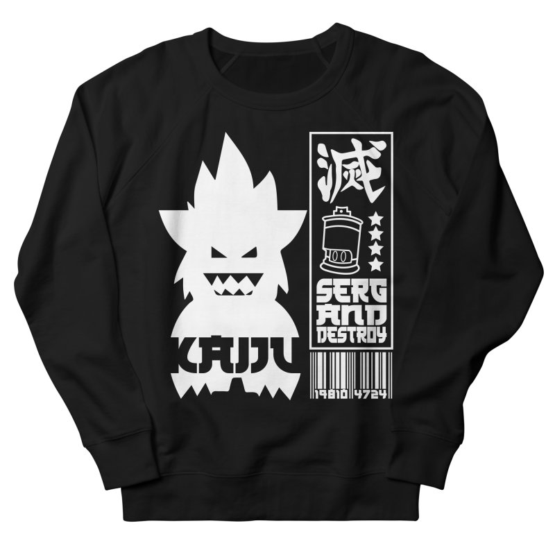 KAIJU CODED (white) Women's French Terry Sweatshirt by SergAndDestroy's Artist Shop