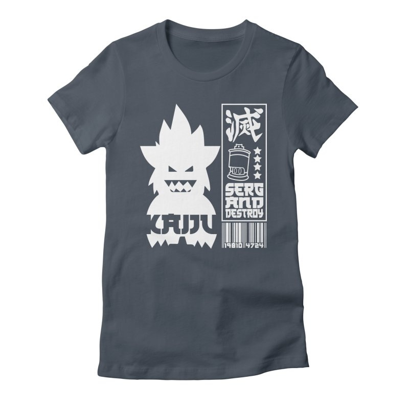 KAIJU CODED (white) Women's Fitted T-Shirt by SergAndDestroy's Artist Shop