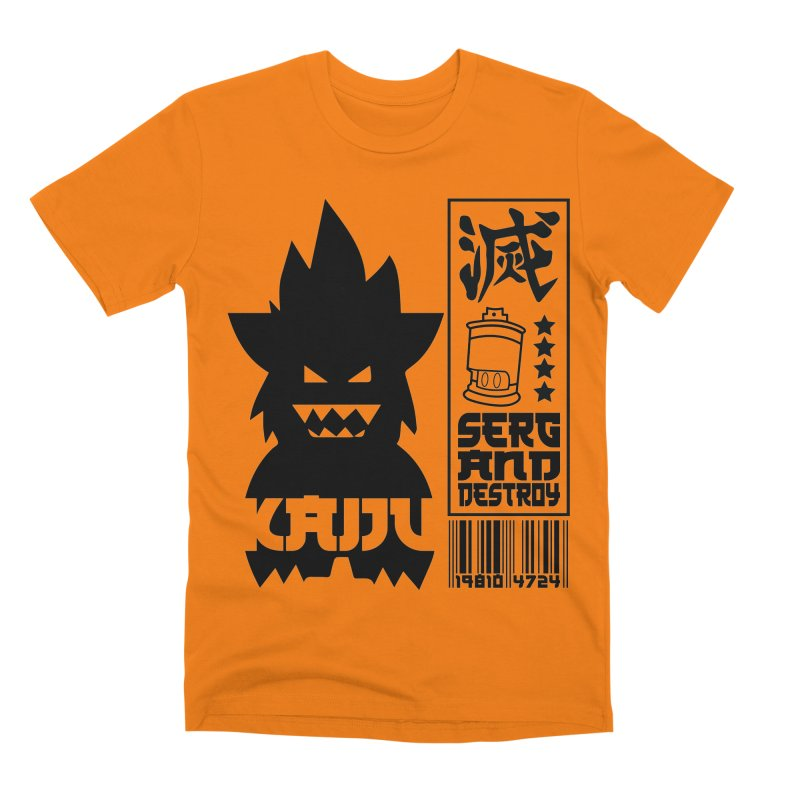 KAIJU CODED (black) Men's T-Shirt by SergAndDestroy's Artist Shop