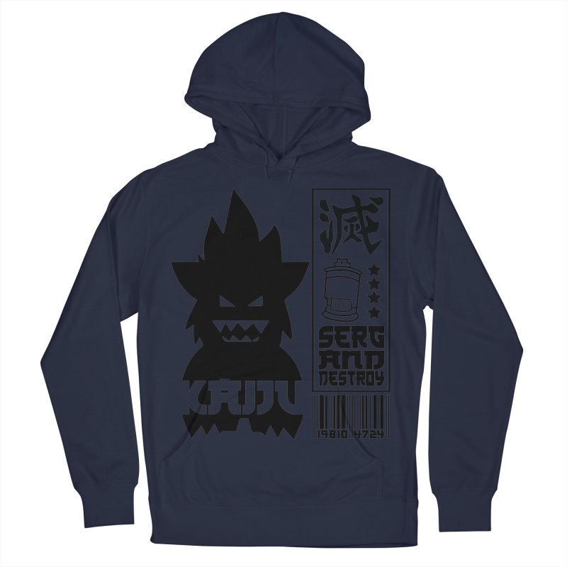 KAIJU CODED (black) Women's French Terry Pullover Hoody by SergAndDestroy's Artist Shop