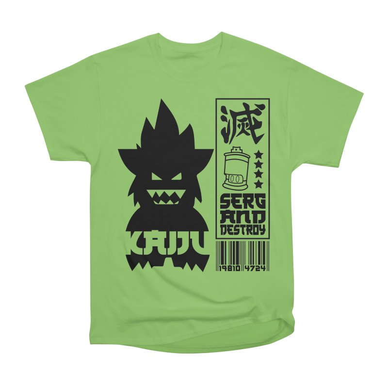 KAIJU CODED (black) Men's Heavyweight T-Shirt by SergAndDestroy's Artist Shop