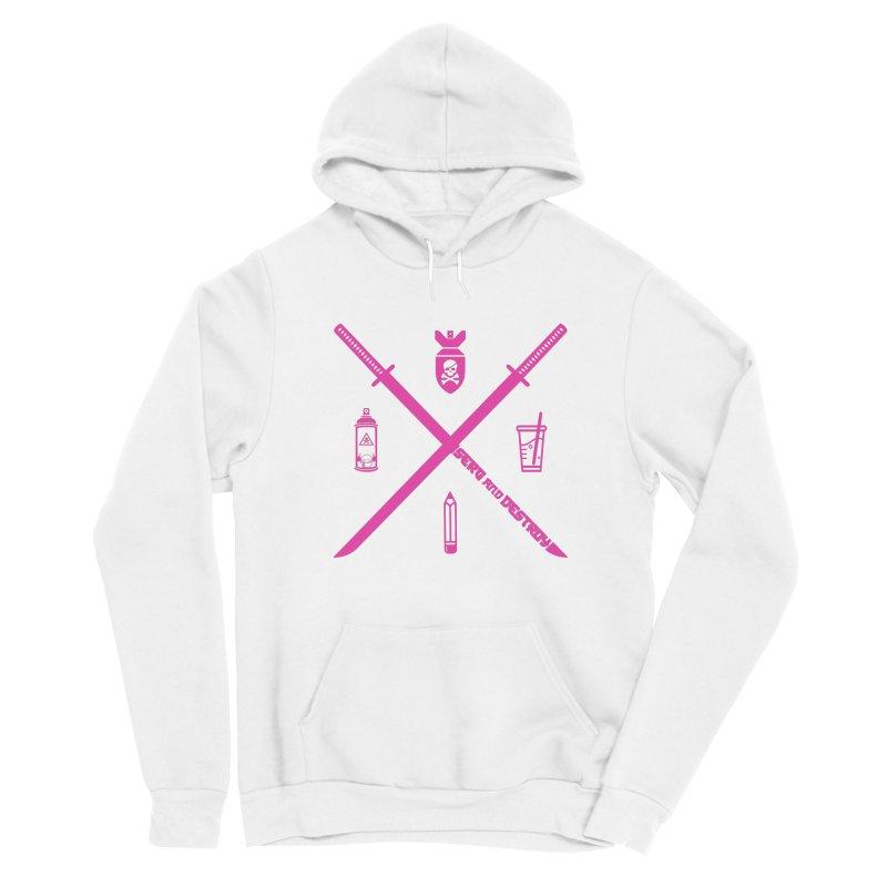 Cyber Pirate Team Pink Women's Pullover Hoody by SergAndDestroy's Artist Shop