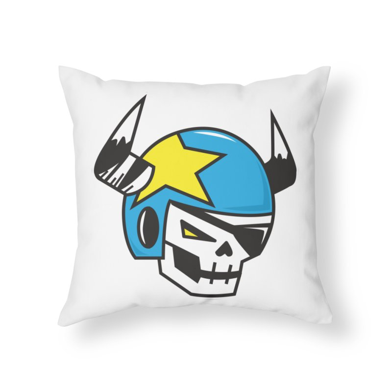 STUNT SKULL (CLASSIC) Home Throw Pillow by SergAndDestroy's Artist Shop