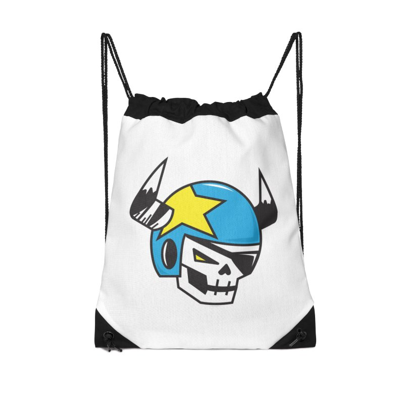 STUNT SKULL (CLASSIC) Accessories Drawstring Bag Bag by SergAndDestroy's Artist Shop