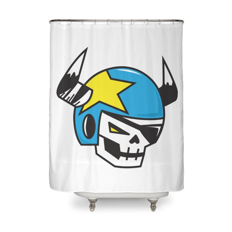 STUNT SKULL (CLASSIC) Home Shower Curtain by SergAndDestroy's Artist Shop