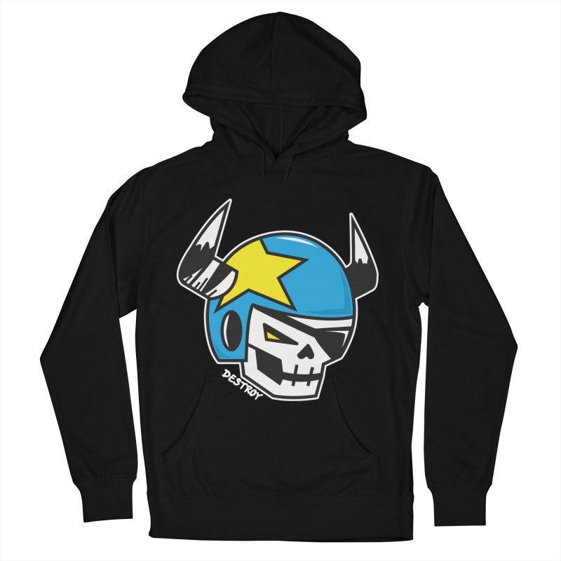 STUNT SKULL (CLASSIC) Women's French Terry Pullover Hoody by SergAndDestroy's Artist Shop