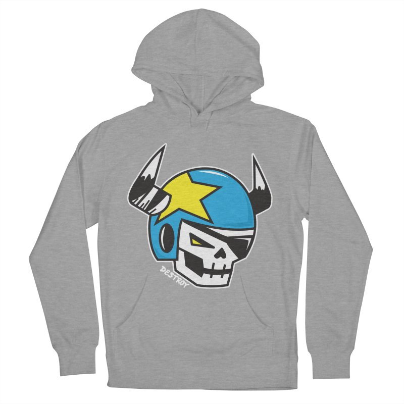 STUNT SKULL (CLASSIC) Men's French Terry Pullover Hoody by SergAndDestroy's Artist Shop