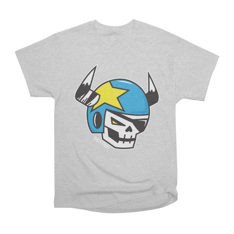 STUNT SKULL (CLASSIC) Men's Heavyweight T-Shirt by SergAndDestroy's Artist Shop