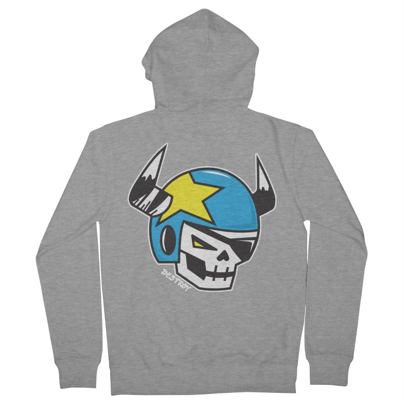 STUNT SKULL (CLASSIC) Men's French Terry Zip-Up Hoody by SergAndDestroy's Artist Shop