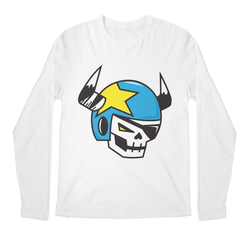 STUNT SKULL (CLASSIC) Men's Regular Longsleeve T-Shirt by SergAndDestroy's Artist Shop