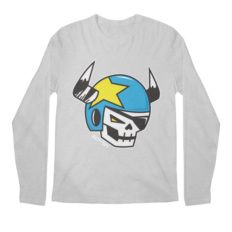 STUNT SKULL (CLASSIC) Men's Regular Longsleeve T-Shirt by SergAndDestroy's Artist Shop
